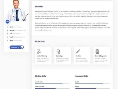 vCard & Resume Template