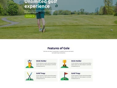Gole - Golf and Sport HTML template