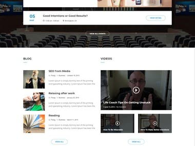 Smooth Scrolling fully functional one-page website/landing p