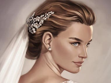 Women portrait digital painting