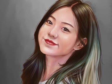 Girl portrait digital painting