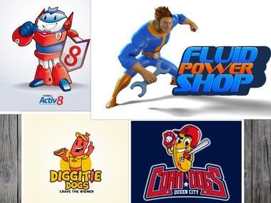 Illustrative/ Mascot logo