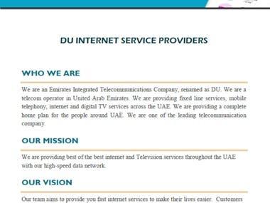 DU Internet Service - Proposal