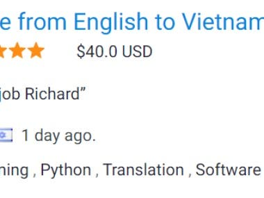 English to Vietnamese translation