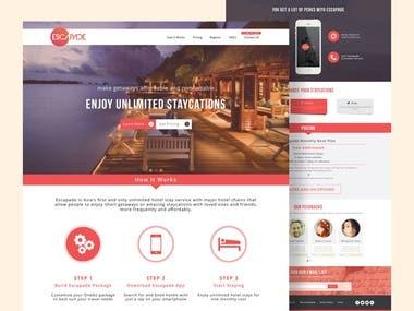 Escapade Website UI/UX