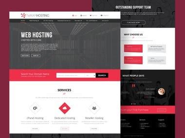 Twikam Hosting Website UI/UX