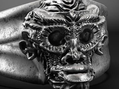 skull monkey ring