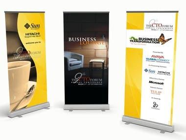 Standee Graphic Design, Banner Graphic Design