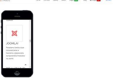 Joomla module - display responsive website