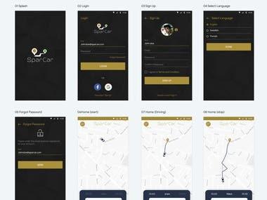 Sparcar - GPS based Mobile App