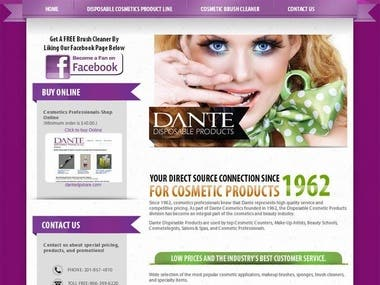 DIPOSABLE PRODUCTS SITE using Wordpress