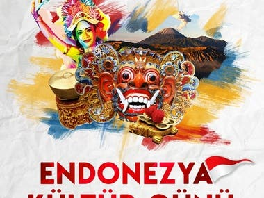 INDONESIA CULTURE DAY POSTER IN TURKEY