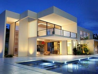 exterior design of a villa