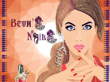 It was illustration for nail painting salon.
