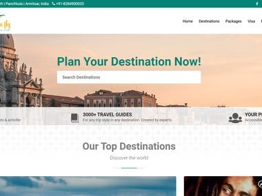 Tour Packages website