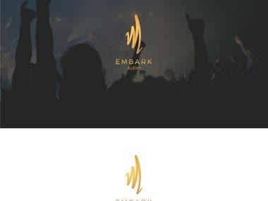"""""""M"""" EMBARK Audio logo design"""