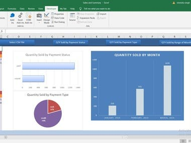Creating Dashboard in Excel VBA