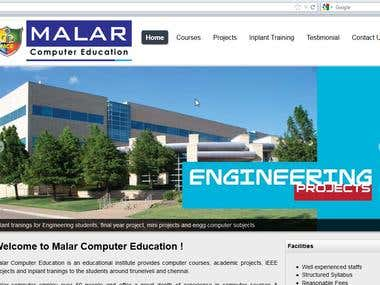 Website design for computer edication