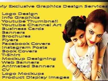I will do All kinds of graphic Design & Architecture Design.
