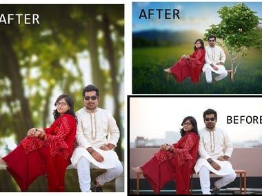 Photo Editing , Background Change , Photo Retouching