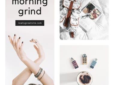 MORNING GRIND (BANNER DESIGN)
