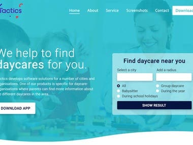 web design daycare