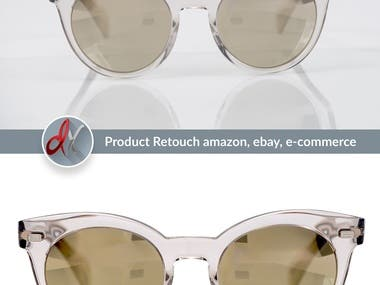Product retouching remove background