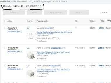 Different Client Ebay Sales