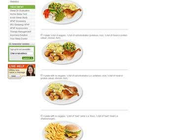 Eat Well Online Quiz webpage