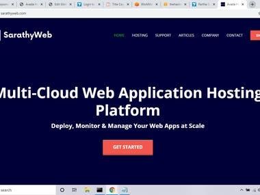 SarathyWeb - Multi-Cloud Web Application Hosting Platform