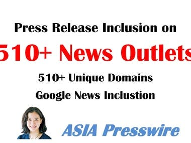 distribute press release to 510 news outlets unique domains