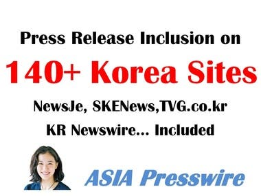 korea press release distribution 140 Korean news sites