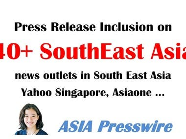 South East Asia press release distribution 40 PR news sites