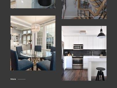 Landing page for real estate website