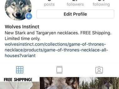 1 week of organic Instagram follower growth