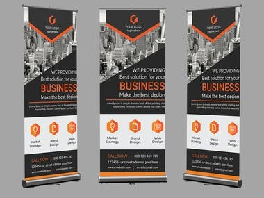 Roll up banner/ Pull up banner