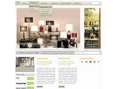 Desing template by photoshop and CSS for magento project