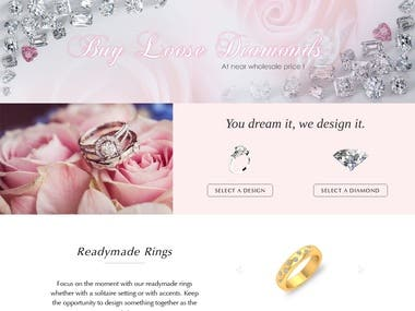 Jewelry - Diamonds Merchants - eCommerce