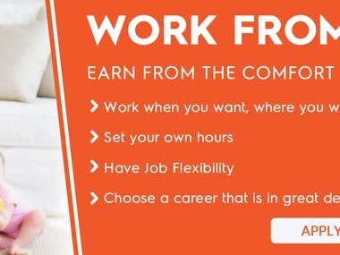 Advertisement Banners for Work From Home