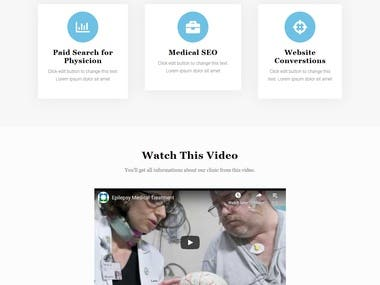 Medical WordPress landing page