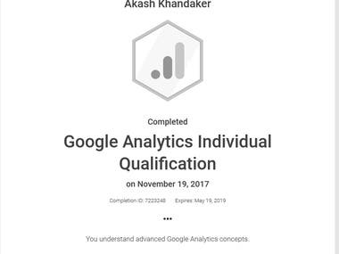 Google Analytics Individual