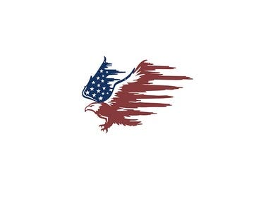 Patriotic Image Illustration for laser cutting.
