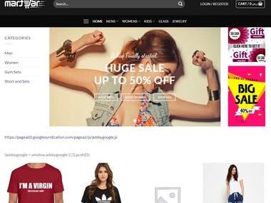 Saudi eCommerce Site: martjar.com