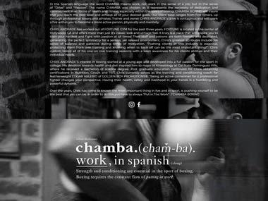 Website development for chambaboxing.com