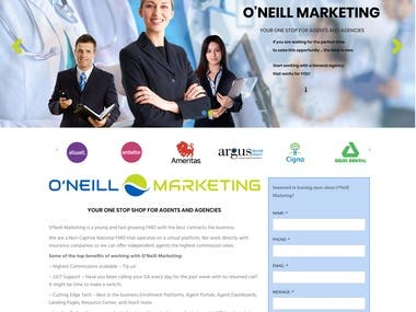 Oneil Wordpress Marketing solution for agent