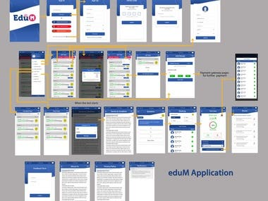 E-learning and Quiz Application