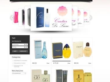 Sitio web de Perfumeria