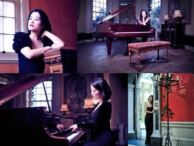 Classical Pianist promo shoot
