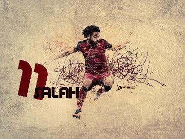 Mohamed salah poster design