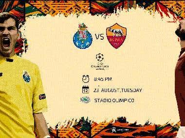 As roma & fc porto match card